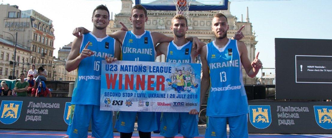 Сборные Украины U-23 по баскетболу 3х3 с двумя одесситами в составе вошли в топ-3 Лиги наций