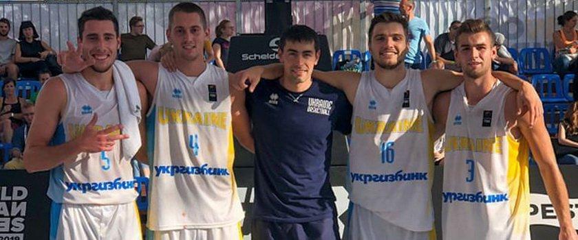 Одессит в составе сборной Украины U-23 завоевал бронзу Лиги Наций по баскетболу 3х3