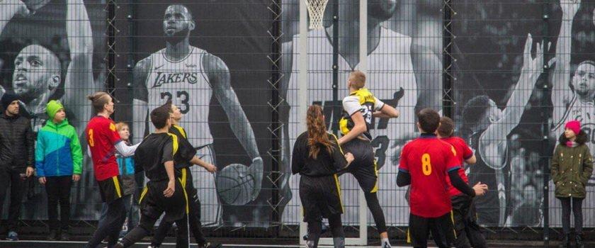 В Одессе открыли новую баскетбольную площадку