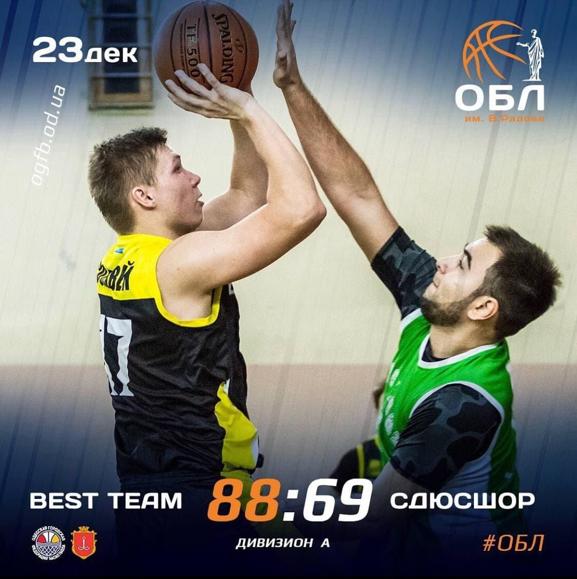 23.12.2020.ОБЛ: BEST TEAM - БИПА-СДЮСШОР